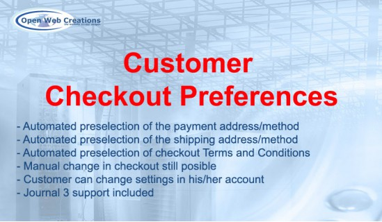 Customer Checkout Preferences