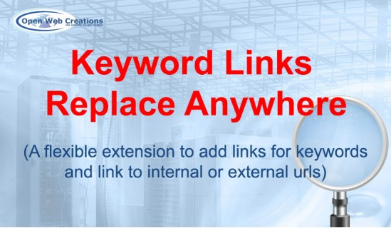 Keyword Links Replace Anywhere