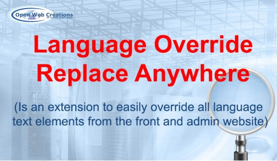 Language Override Replace Anywhere