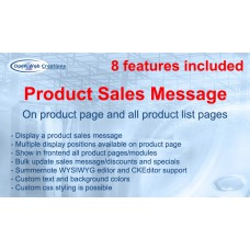 Product Sales Message with 8 features