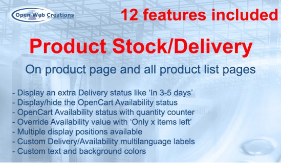 Product Stock/Delivery Status