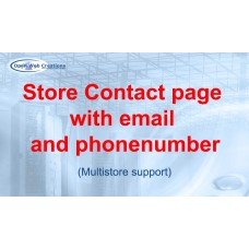Store Contact page with email and telephone