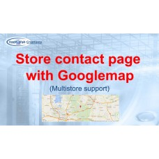 Store contact page with Googlemap
